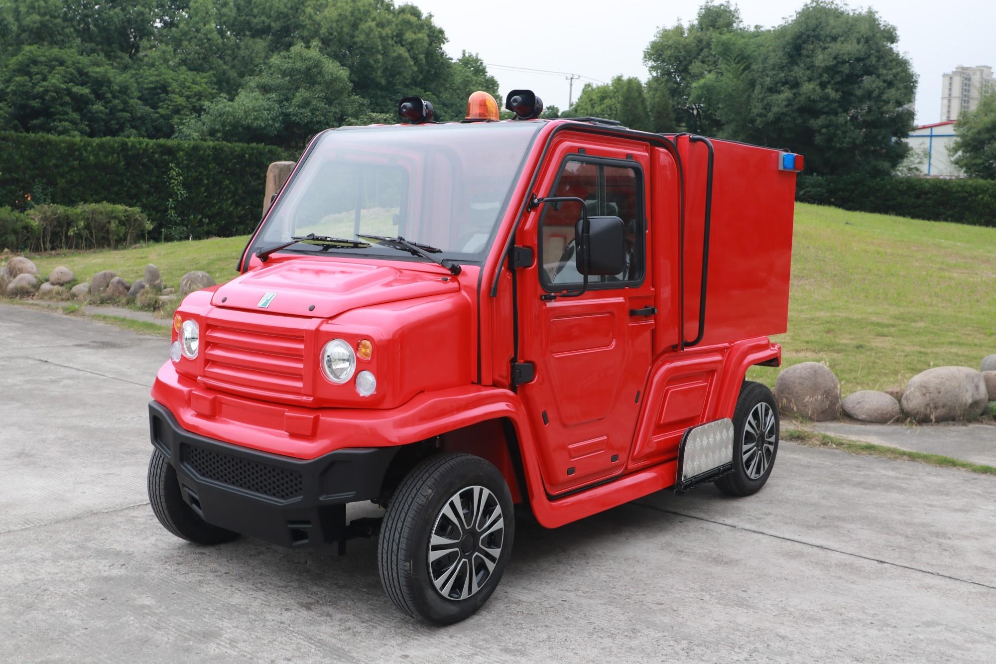 电动消防车动静态视频